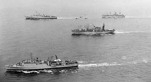 Algunos barcos de la flota americana