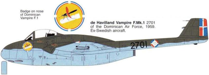 Vampiro de la Fuerza Aérea Dominicana
